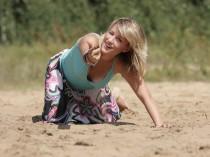 """Фотосессия девушки на песке, фотосъемка девушек, фото для """"Одноклассников"""""""